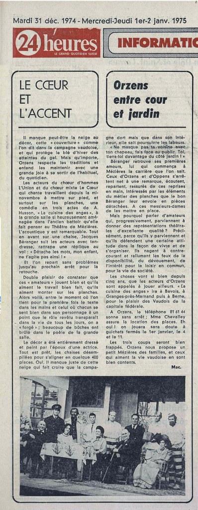 24heures 1er-janv-1975 LA CUISINE DES ANGES ORZENS