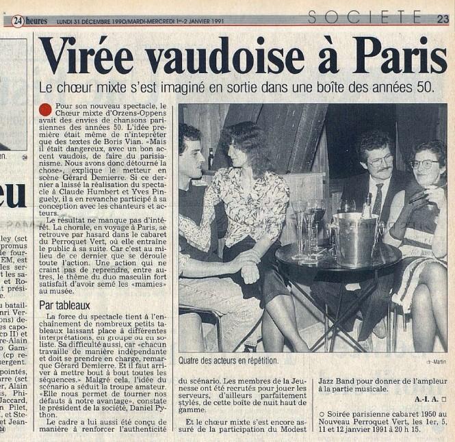 24heures 2-janv-1991 PERROQUET VERT ORZENS