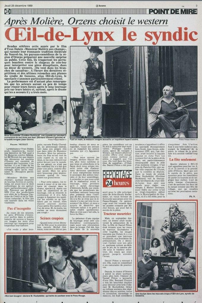 24heures 28 decembre 1989 page 3 DU VENT DANS LES BRANCHES DE SASSAFRAS ORZENS
