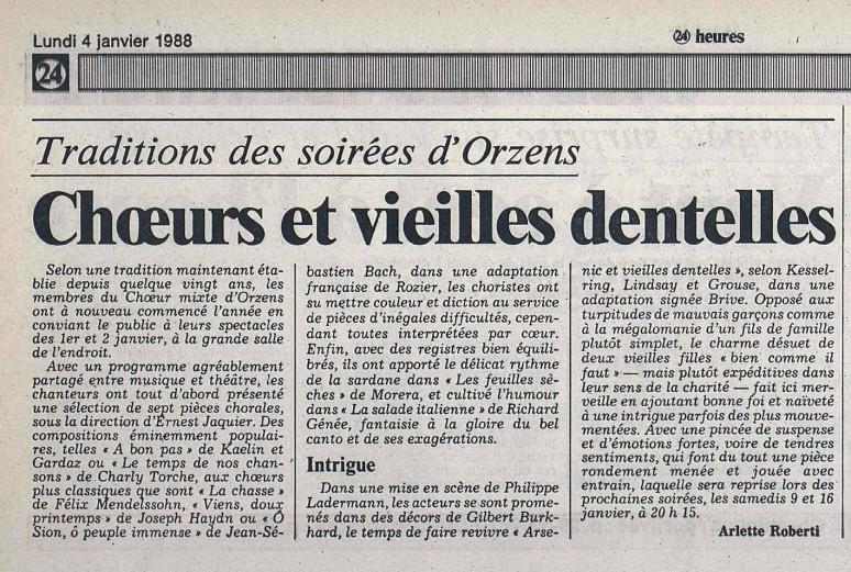 24heures 4-janv-1988 ARSENIC ET VIEILLES DENTELLES ORZENS