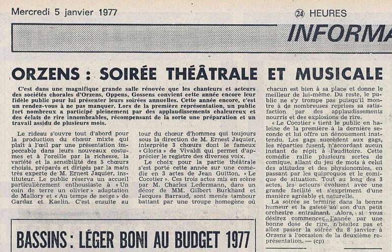 24heures 5-janv-1977 le cocotier Orzens