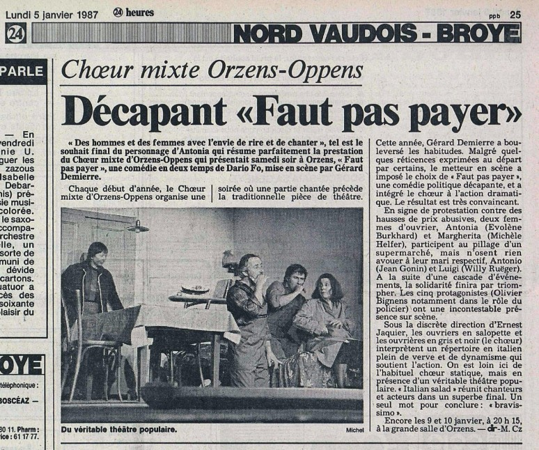 24heures 5-janv-1987 FAUT PAS PAYER ORZENS