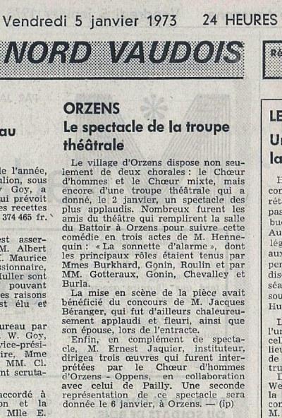 24heures 9-janv-197 LA SONNETTE D'ALARME ORZENS