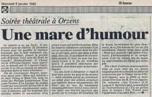 24heures 9-janv-1985 LA MARE AUX CANARDS ORZENS
