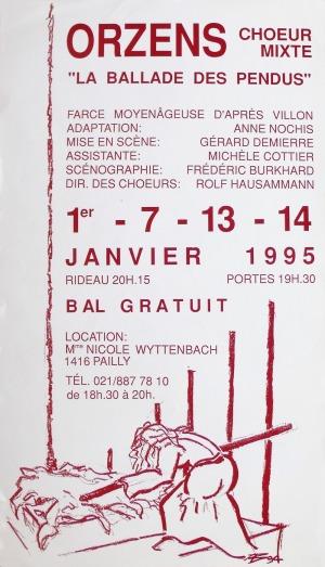 affiche BALLADE DES PENDUS janvier-1995 Orzens