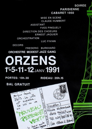 affiche NOUVEAU PERROQUET VERT janvier-1991 Orzens