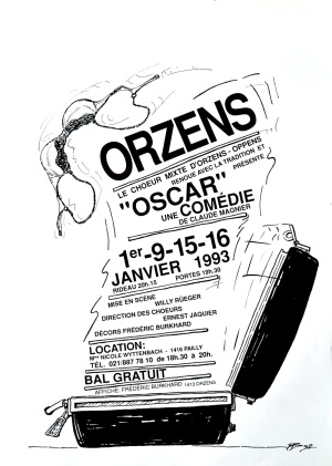 affiche OSCAR janvier-1993 Orzens