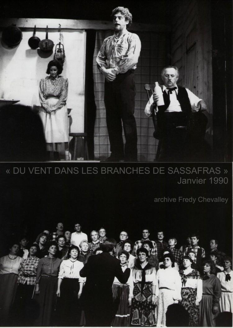 Du vent dans les branches de sassafras en haut: Evolène Burkhard, Bernard Vincent, Jean Gonin en bas: le cœur dirigé par Ernest Jaquier