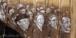 F Burkha spectateurs de LA CAGNOTE mars 1954 ORZENS