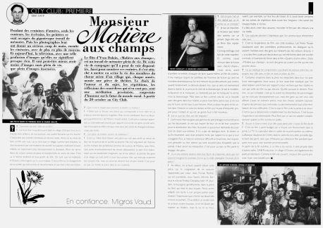 FUSION octobre 1989 Monsieur Moliere aux champs Orzens pages 6-7