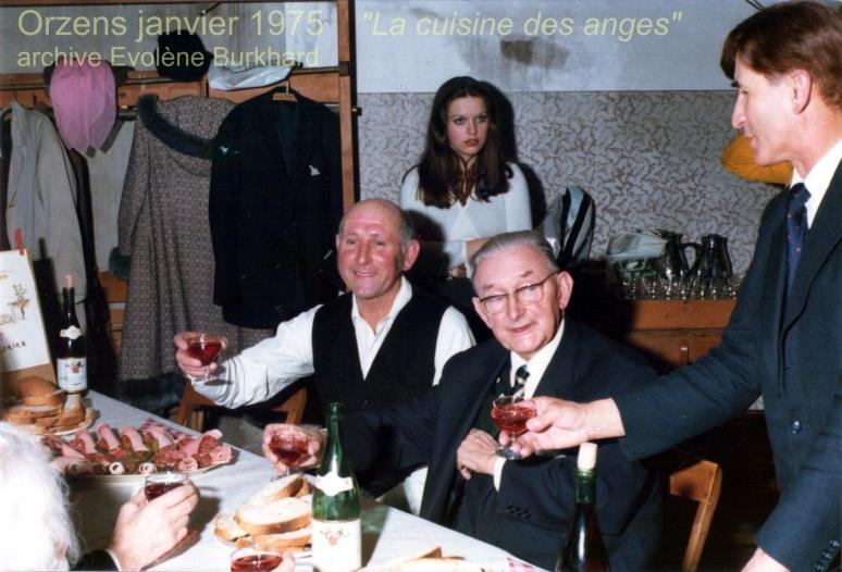 Après-soirée dans la cuisine Auguste Gonin, Jacques Béranger, Ernest Jaquier.