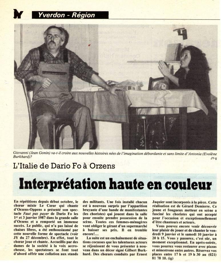Journal d-Yveron 6-janv-1987 Faut pas payer Orzens