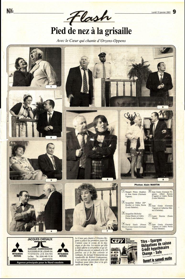 JOURNAL NV 15 janvier 2001 LE TOMBEUR Orzens