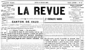 LA REVUE 10 mars 1889 soiree theatrale ORZENS