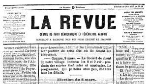 LA REVUE 10 mars 1905 soiree theatrale ORZENS