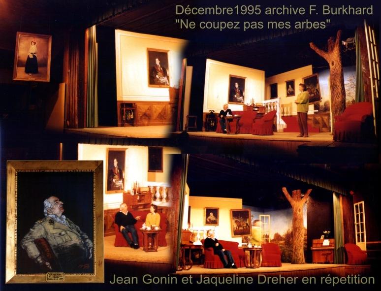 Jean Gonin et Jacqueline Dreher répétant dans les décors de