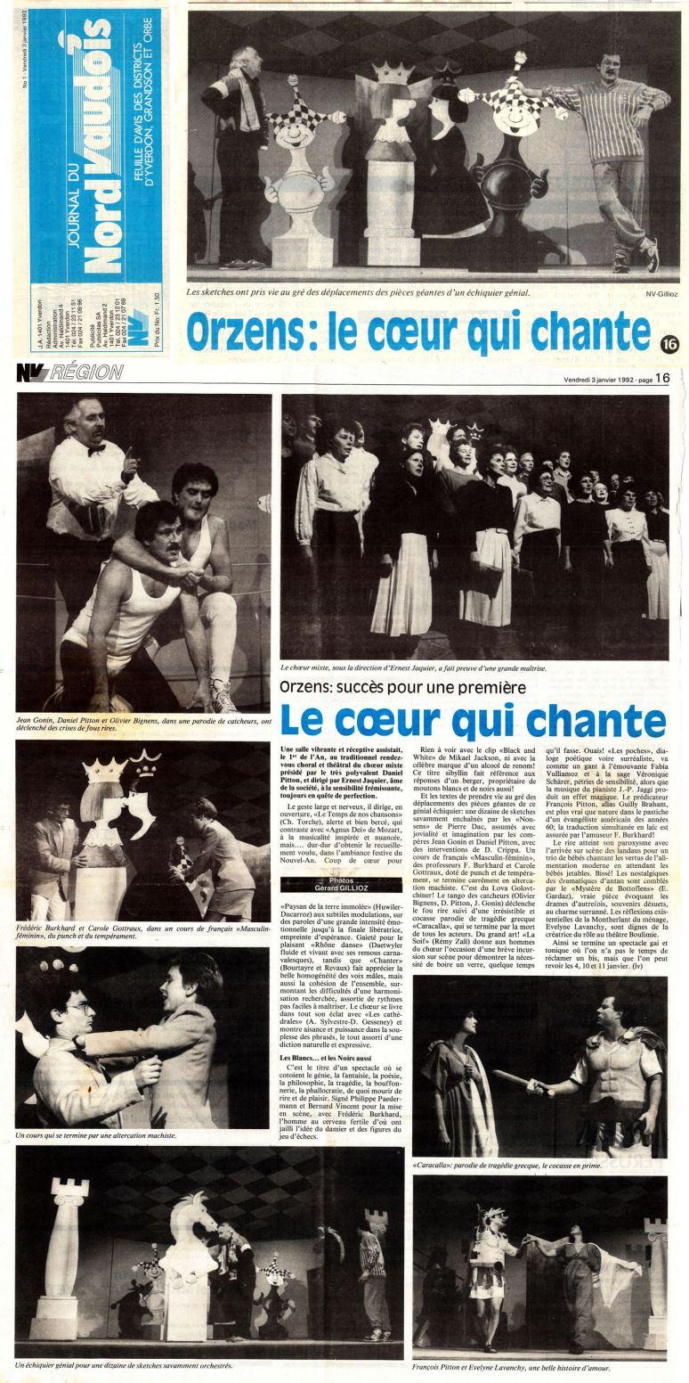 NV 3 janvier 1992 les blancs et les noirs aussi Orzens 2