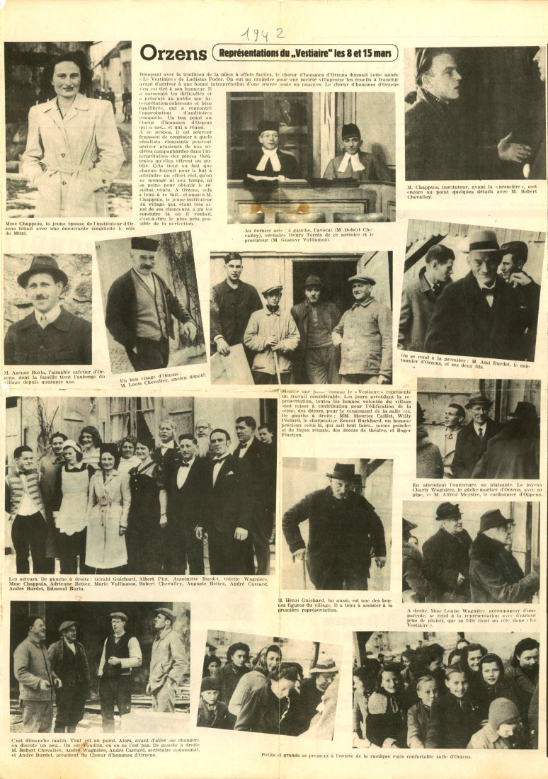 Orzens mars 1942 le vestiaire