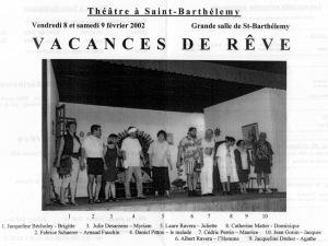 programe vacances de reve Saint-Barthelemy 8-9 fevrier 2002