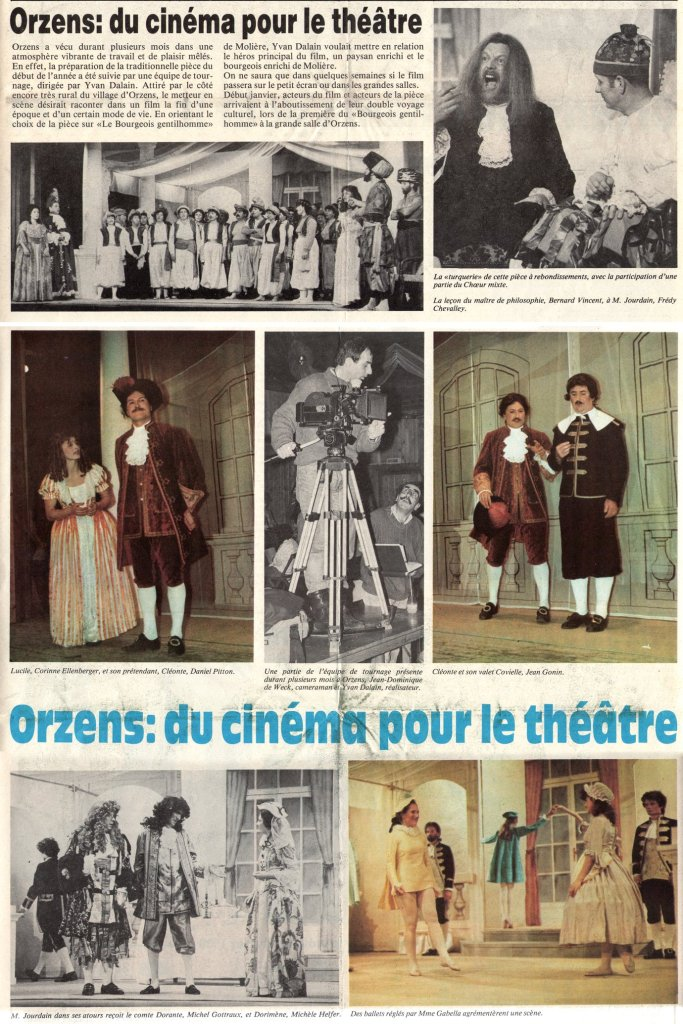 YVERDON-REVUE janvier 1989 PAGES 7-8 LE BOURGEOIS GENTILHOMME Orzens
