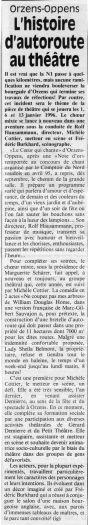 Journal du Nord vaudois - Ne coupez pas mes arbres - Orzens decembre 1995
