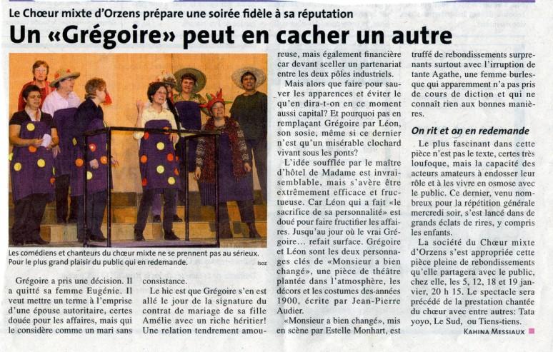 la Region N V Monsieur a bien change Orzens janvier 2008