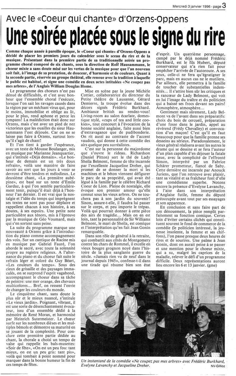 NV 3 janvier 1996 NE COUPEZ PAS MES ARBRES Orzens