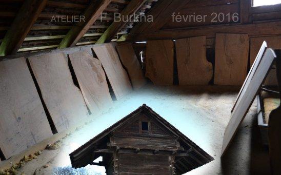chene du SAUTERUZ Orzens - Sechage des planches 28-12-2015