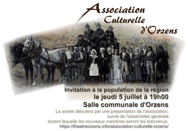invitation assemblee ASSOCIATION CULTURELLE ORZENS 5-juillet-2018 web