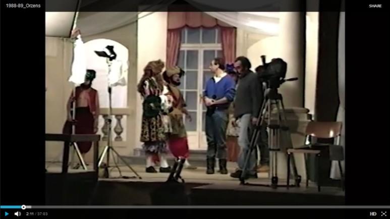 Bourgeois Gentilhomme et Monsienr Moliere aux champs ORZENS 1988-9