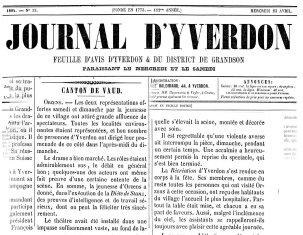 Journal d Yverdon 23-04-1884 ORZENS La Diete de Stanz